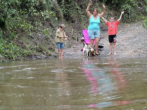 Family trapped for weeks by Widgee Creek floodwaters