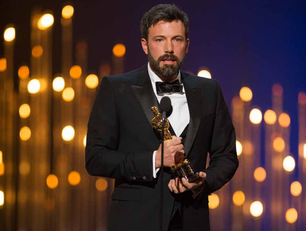 ONLINE SUCCESS: Ben Affleck accepting the Oscar for Best Motion Picture of the Year for Argo.