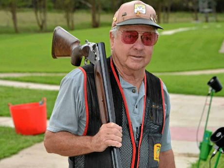 Keith Rowling spends the first Sunday of each month at the Warwick Clay Target Club.