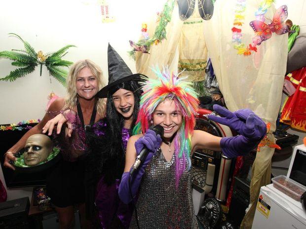 Lulu Drew, Sharaya Carlin and Yolanda Dodds having fun at Lulu's Party Shop in the Retravision Arcade, Bellara. Photo Darryn Smith / Caboolture News