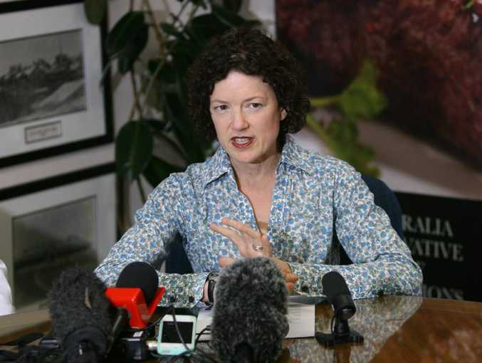Local federal member of parliament Kirsten Livermore announces Teys Australia has received a grant to cut its power bill and carbon emmisions by using methane as a power supply where previously it went into the atmosphere. Photo: Chris Ison / The Morning Bulletin