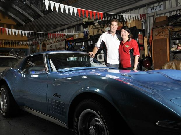 Ben and Hayley Jewell with their 1971 Corvette Stingray.