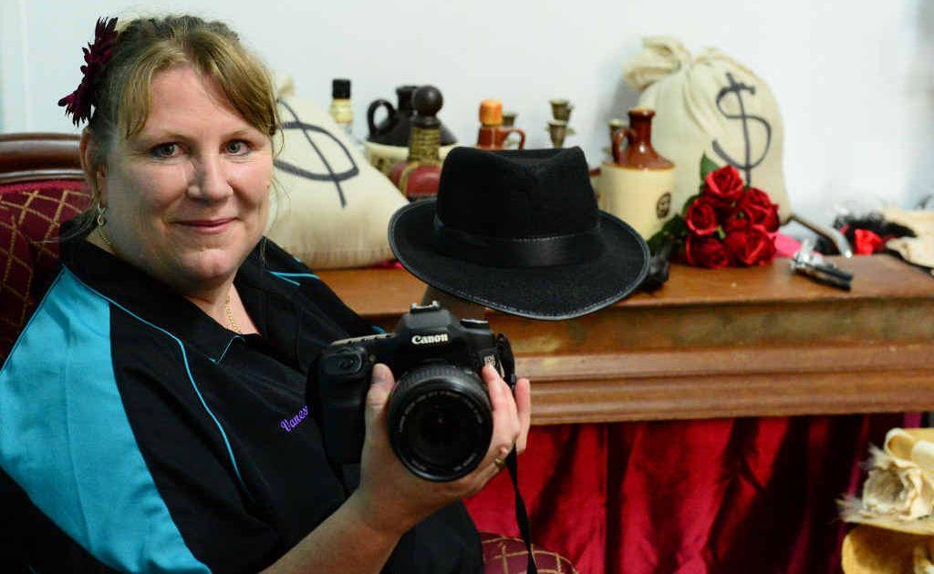 FANCY PHOTOS: Photographer Vanessa Eyles, of Eye Spy a Studio, in her Rockhampton studio with her collection of costumes.