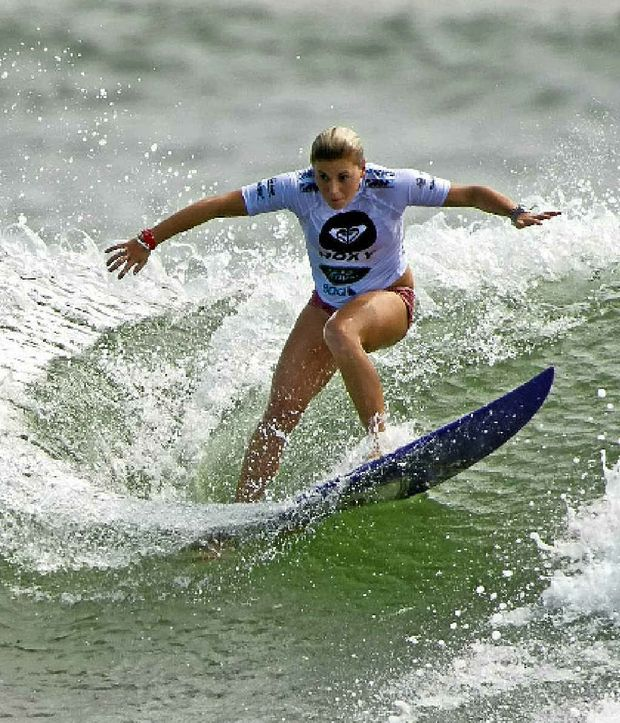 Dimity Stoyle refuses to let her elimination from the Roxy Pro get her down.