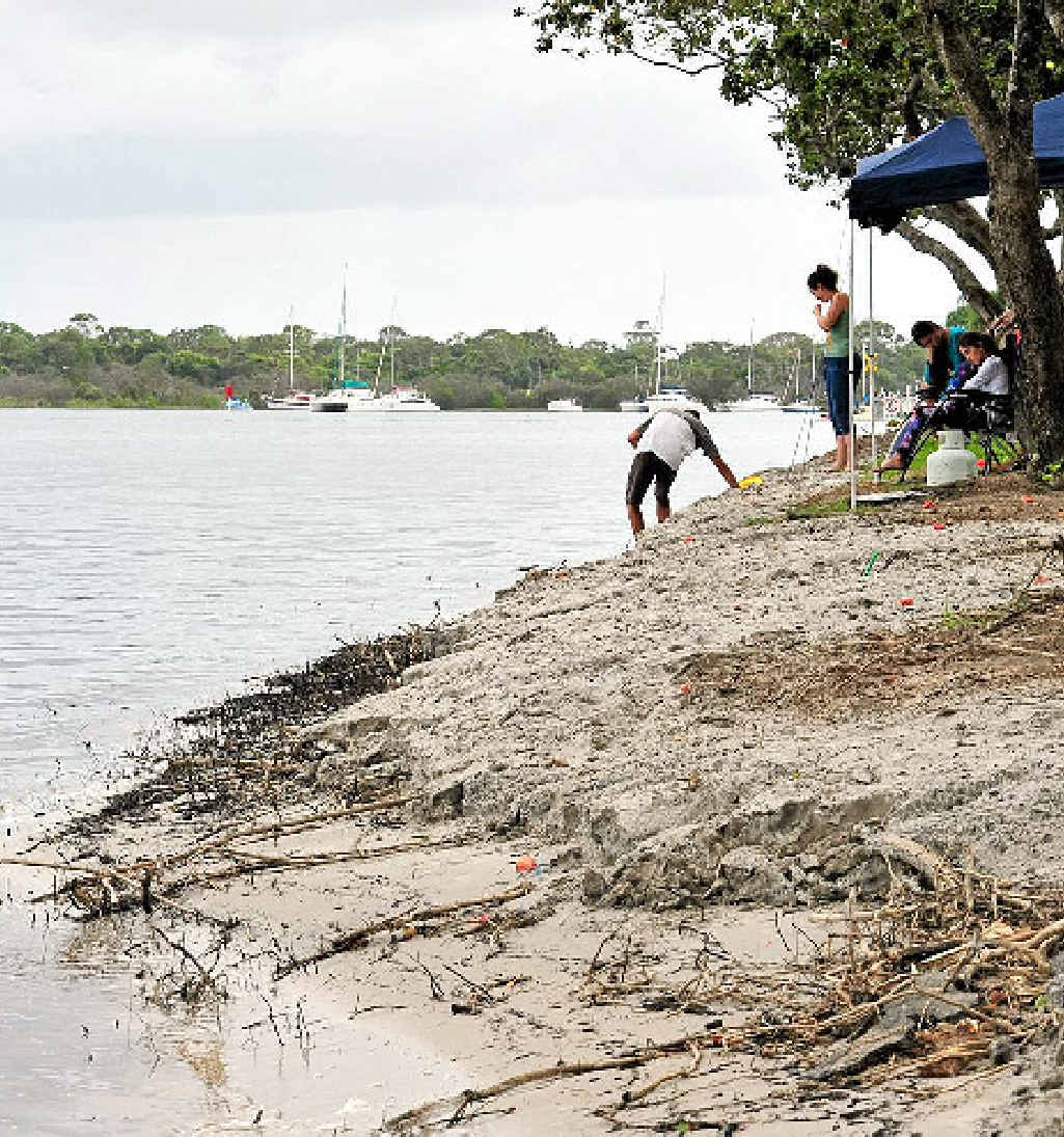 GONE: Erosion at Munna Point is a real concern for residents.