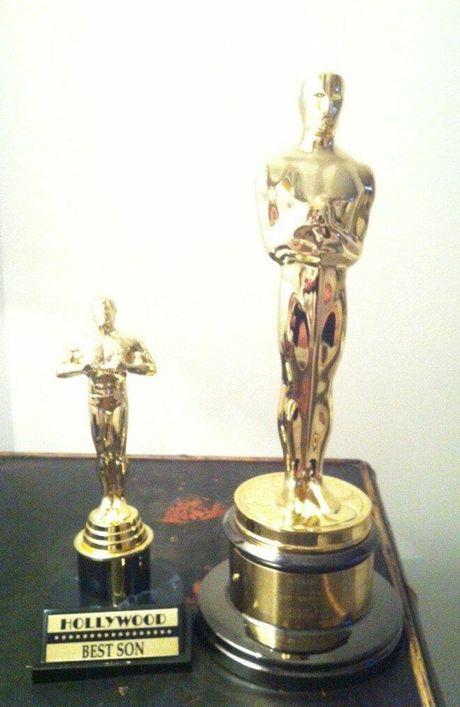 Adele's Best Son Oscar for baby Angelo.