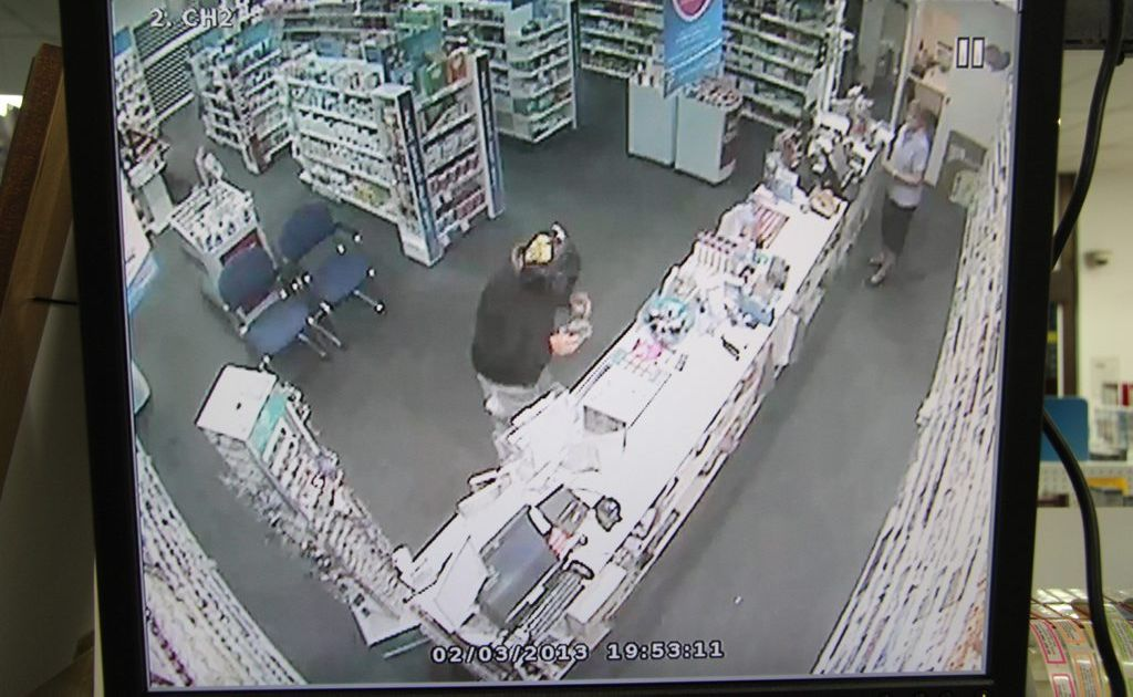 This man attempted to hold up the CQ Day and Night Chemmart Pharmacy at Alma St on March 2.