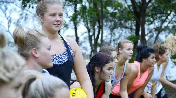 Hayley Beaumont and team friends of the BITS Saints women's team are serious about their sport but have no coach.