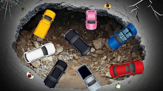 Okay, so maybe that's a bit of an exaggeration, but some of the region's potholes feel like they're headed this way!
