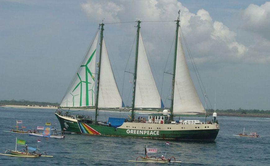 Greenpeace's Rainbow Warrior.