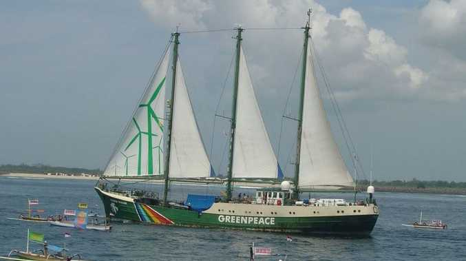 Greenpeace's Rainbow Warrior.
