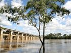 The upstream side of the barrage. Photo Allan Reinikka / The Morning Bulletin