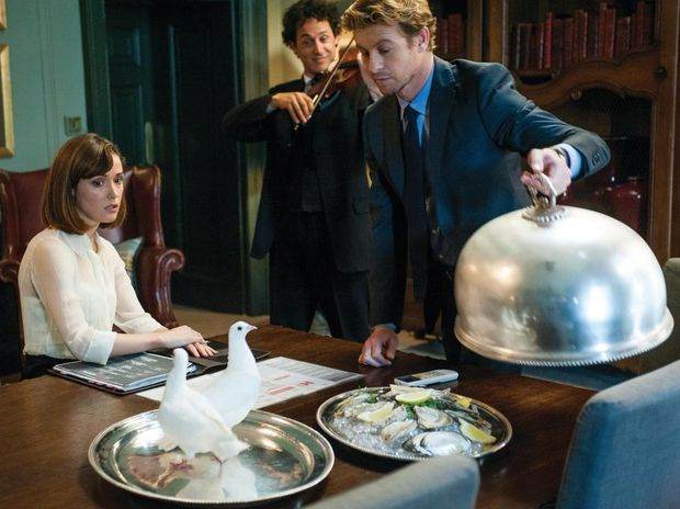 Rose Byrne, left, Simon Baker in a scene from the movie I Give It A Year.