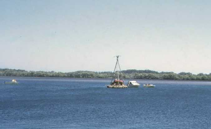 ARRIVAL: The late Robert Perry, of Ballina, took this photo of one of the Las Balsas rafts when it arrived in Ballina on November 21, 1973.