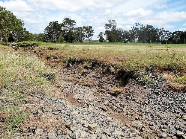 DEGRADATION: Soils expert Peter Wilson is prepared to help flood-stricken landholders.