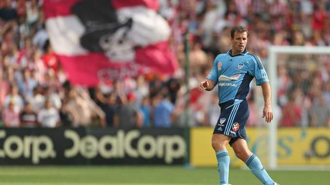 Lucas Neill of Sydney FC controls the ball during the round 22 A-League match between the Melbourne Heart and Sydney FC at AAMI Park on February 24, 2013 in Melbourne, Australia.