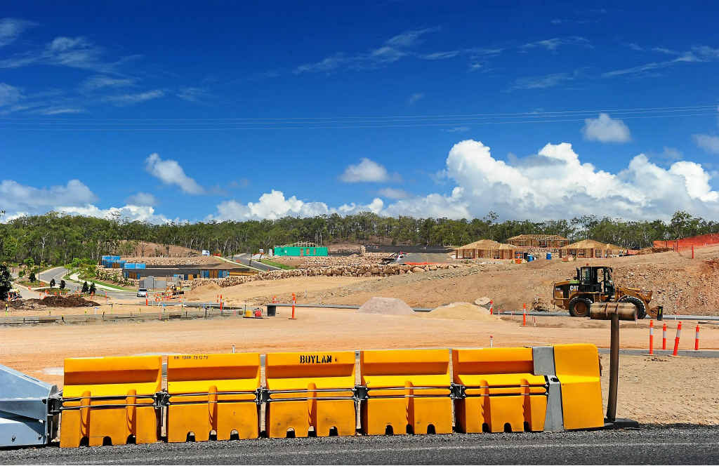 The Riverstone Rise development on Boyne Island Rd is one of many well underway in the Gladstone region.