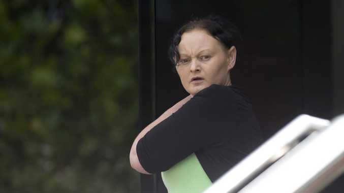 Peggy Wyborn outside the Toowoomba Courthouse where she has been found guilty of manslaughter.