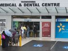 People lining up waiting to see a doctor at the Toowoomba Medical and Dental Centre.
