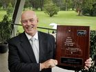 Toowoomba Golf Club general manager Steve Owen with the award for Regional Tournament of the Year.