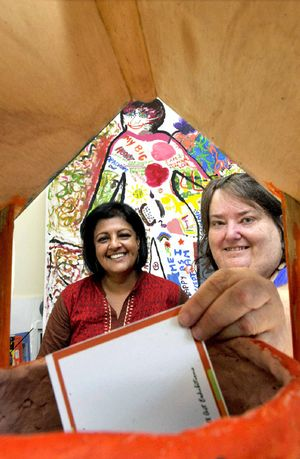 GOOD HELP: Co-ordinator of the Wishing Well Project for Women with Mental Illness and Weight Gain, Rohini Agnew, and participant Michelle Wakely of Goonellabah.