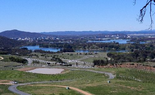 A view of Canberra overlooking Lake Burley Griffin