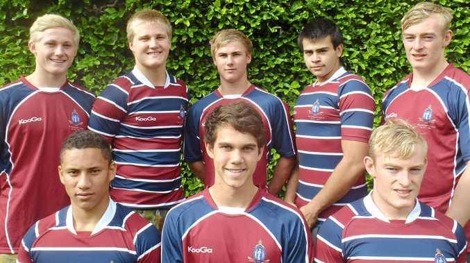TOP TEAM: Back (from left): PJ Van der Berg, Fred Dorough, Joey Fittock, Jake Lyon, Charles Chapman. Front row: Isaac Fines-Leleiwasa, Ben Turnbull, Charles Chapman