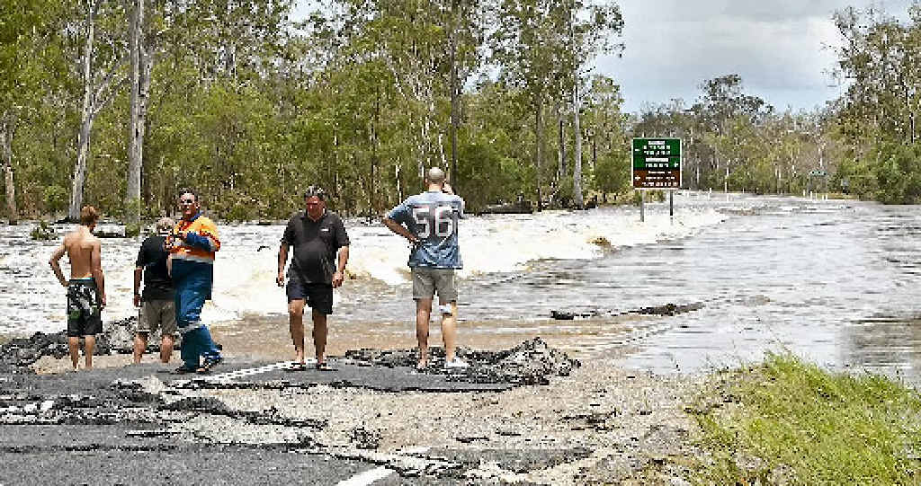The road to Baffle Creek was washed away during recent flooding.