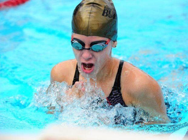 Boyne Tannum Bullets swimmer Gabrielle Scott in action.