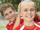 GREAT SHAVE: Daniel Watt, 10, has just had his head shaved for the Leukaemia Foundation at Caloundra City Soccer Club. His brother Greg, 12, who shaved his head for the same cause last year, was proud of Daniel.