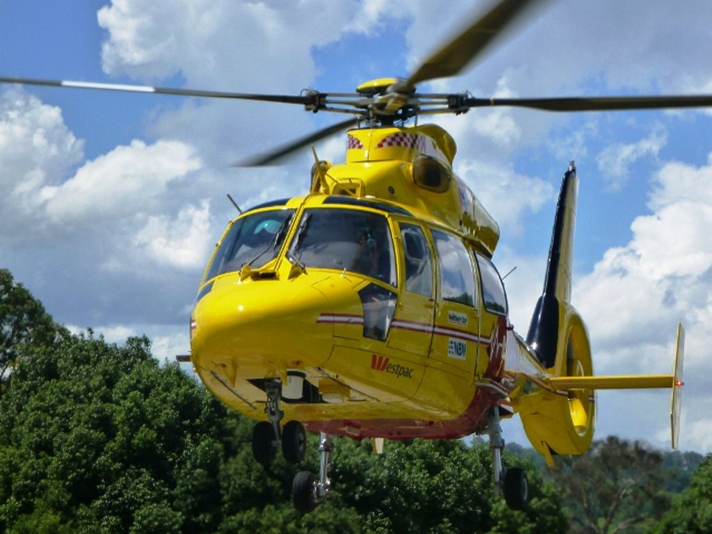 The Westpac chopper was sent out to locate the distress beacon.