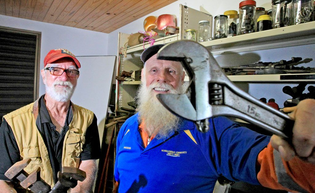 Michael Newell and Phil Davison get ready for Men's Health Week. Photo: Blainey Woodham / Daily News