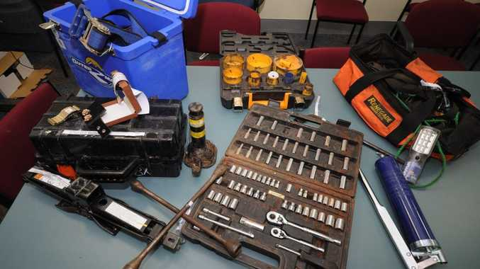 Police are looking for the owners of these stolen tools.