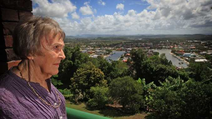 Beryl Phippard looks over the area the plane went down the night she witnessed the crash over sixty years ago. Photo: Blainey Woodham / Daily News