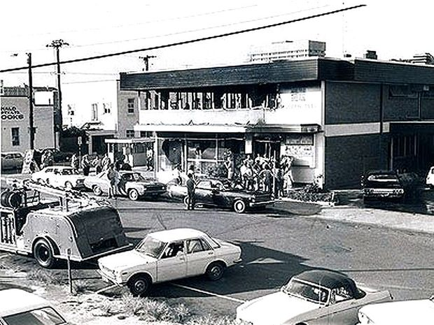 The aftermath of the Whiskey Au Go Go fire in Fortitude Valley in 1973.