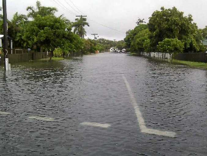 The junction of Hoey and Pearce Sts in East Mackay, where residents say they regularly experience flooding after heavy rain.