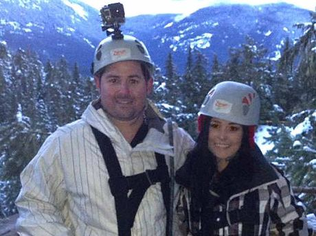 Rebecca Ware and Matt Lorraway on holiday in Canada. Mr Lorraway is doing all he can to retrieve lost camera footage from his and Rebecca's last holiday together.