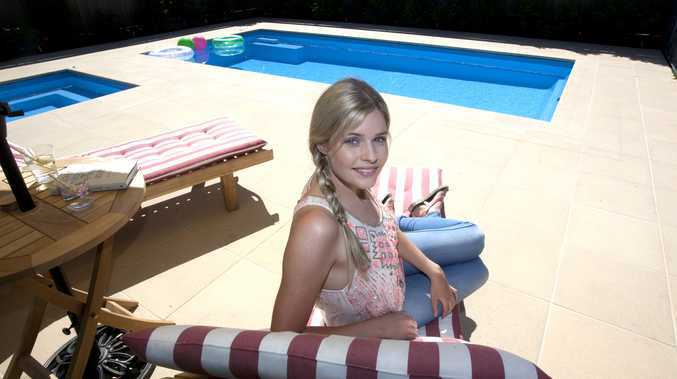 Jenna Rosenow (Amber Turner) pictured in her character's new backyard.