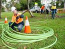 THE National Broadband Network roll-out in Ipswich could be delayed after NBN Co said a shortfall in construction workers could put the work behind schedule.