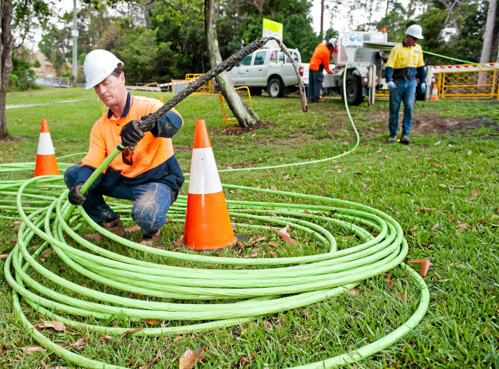 A shortfall in construction workers could put work on the NBN behind schedule.