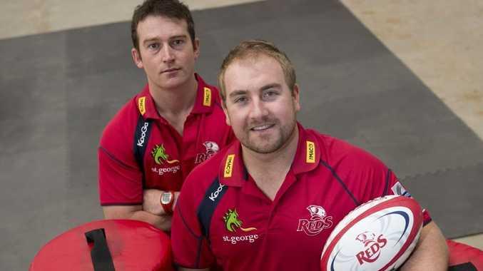 Former Downs Rugby development officer Tom Bower (left) is handing the reins over to Aaron Burnett.