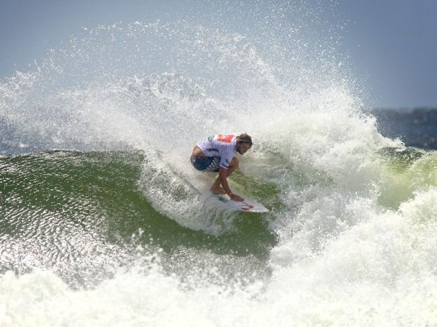 Quiksilver Pro round action was back at Snapper Rocks today. Matt Wilkinson's white hot form continued in round 2.