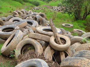 Floods have spread tyre pollution