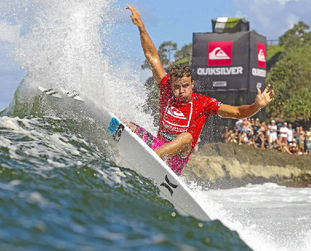 Coolum's Julian Wilson in action at the Quiksilver Pro.