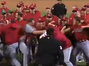 Baseball brawls gets ugly fast