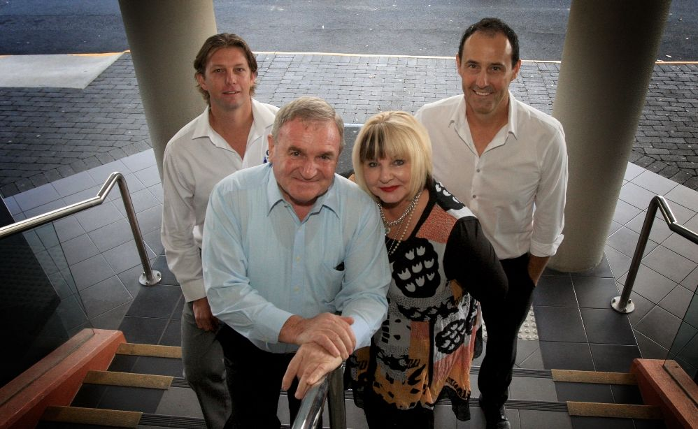 Tweed Chamber of Commerce members Lenny Mclennan, Warren Polglase, Maggie Anne Leybourne and Rory Curtis at the March meeting.