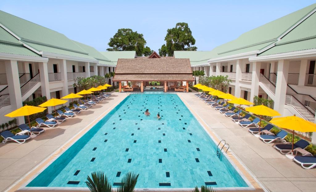 Thanyapura Sports Hotel pool serves as the perfect warm up for TSLC's renowned Aquatics Academy.