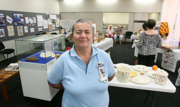 QCWA Division president Arlene Roberts at a QCWA display at the Rockhampton Library. Photo: Chris Ison / The Morning Bulletin