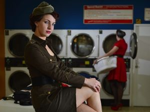 Gladstone roller derby girls show off rockabilly fashion