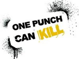 It's a simple message: one punch can kill